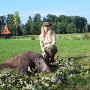 Debbie Horn a szerencsés vadászat után